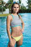 Rumpunch high neck crop top bikini set - Fashion Market.LK
