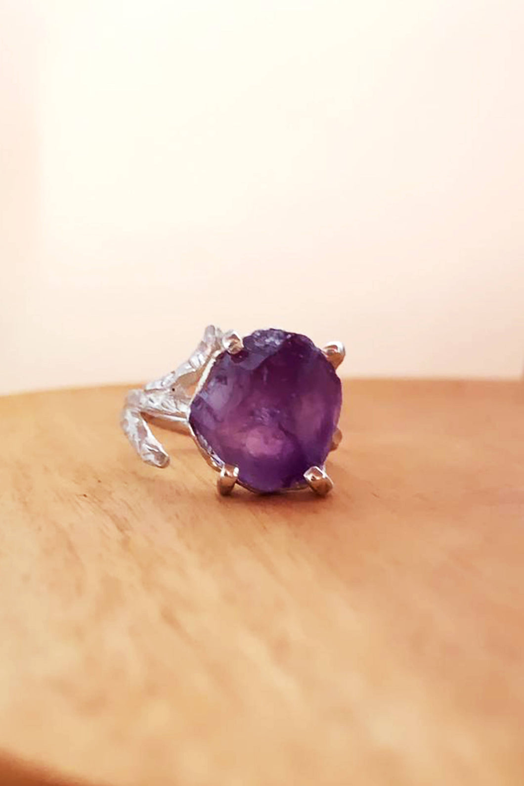 Amethyst Rose Bud Ring