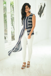 Alyssa Asymmetric Stripe Top
