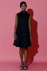 Royal Blue Hand Woven Mini Dress
