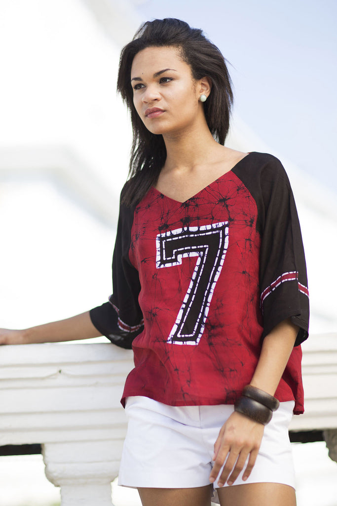 Batik Raglan Sleeve top