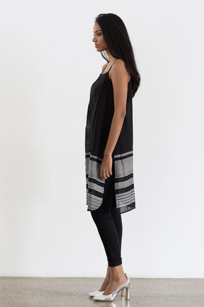 Handwoven Black Tunic Top