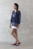 SURE Boho Print Tunic Top