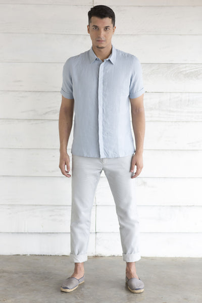 Pale Blue Shortsleeve Shirt