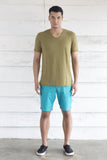 V Neck Khaki T Shirt
