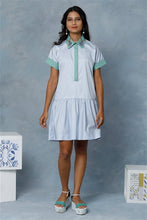 Load image into Gallery viewer, Serin Blue Dropped Waist Dress