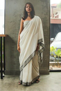 Urban Drape White Glow Saree