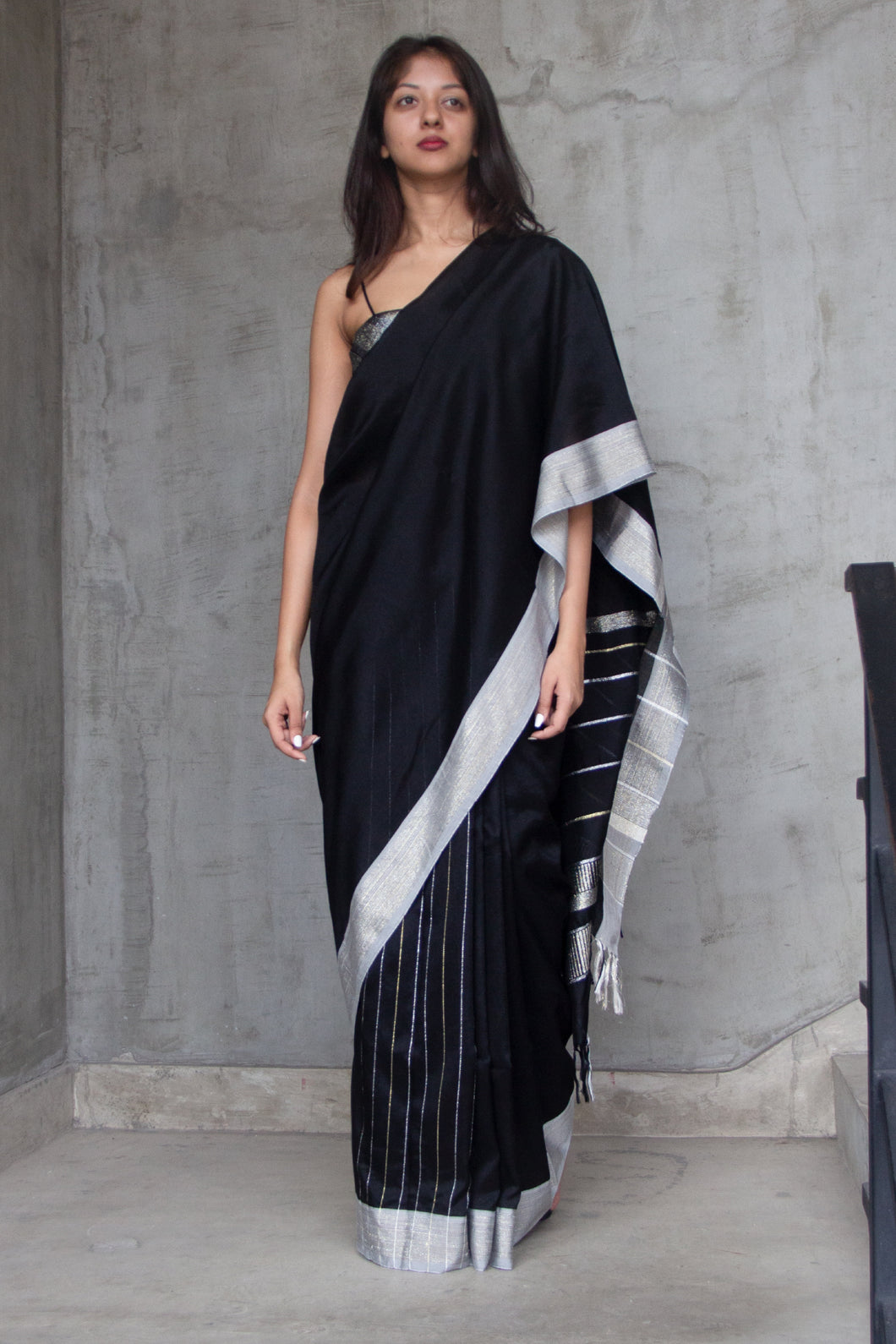 Urban Drape Black Glow Saree