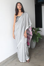 Load image into Gallery viewer, Urban Drape Magenta Gray Rhythm Saree