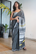 Load image into Gallery viewer, Urban Drape White Rhythm Saree