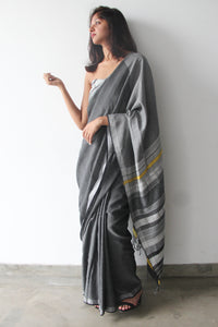 Urban Drape White Rhythm Saree