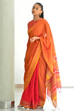 Load image into Gallery viewer, Urban Drape Red Lava Saree