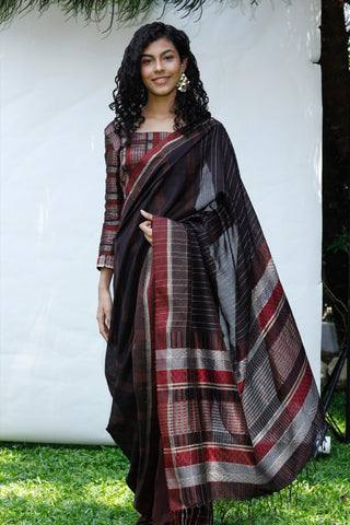 Urban Drape Autumn Leaves Saree
