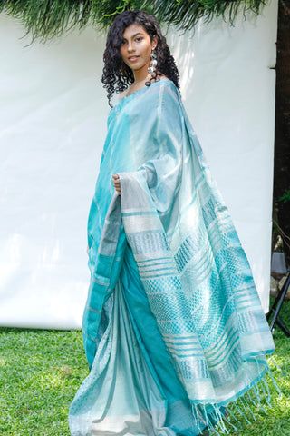 Urban Drape Emerald Mist Saree