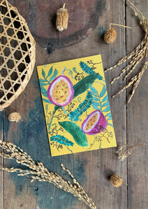 Tropical Passion Fruit Printed Card