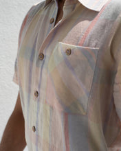 Load image into Gallery viewer, Pastel-Plaid Linen Shirt