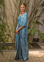 Load image into Gallery viewer, Vintage Orchid Blue Saree