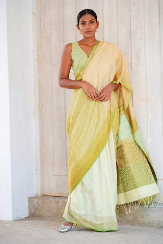 Urban Drape Checkmate Racer Saree