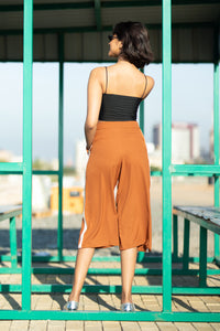 Brown Candy Crop Pants