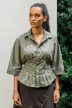 Load image into Gallery viewer, Khaki Corset Shirt