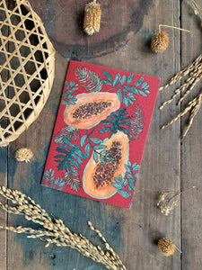 Tropical Papaya Printed Card