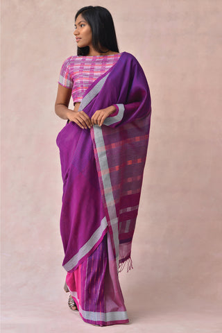 Urban Drape Magenta Vines Saree