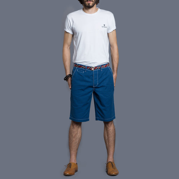 Blue Chino Short - Fashion Market.LK