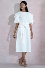 Load image into Gallery viewer, White Festive Midi Dress