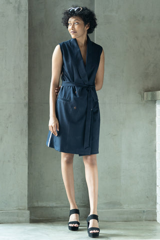 Handwoven Textured Shift Dress V1