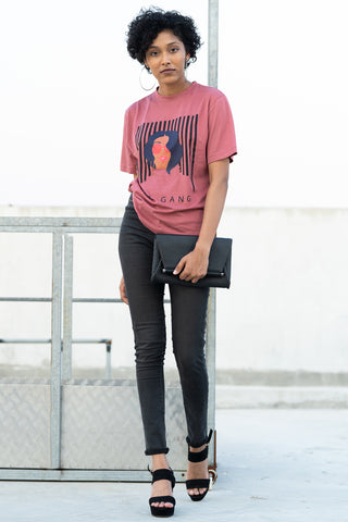 Girl Gang Dusty Pink T-shirt