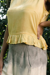 Yellow Birdy Frill Top