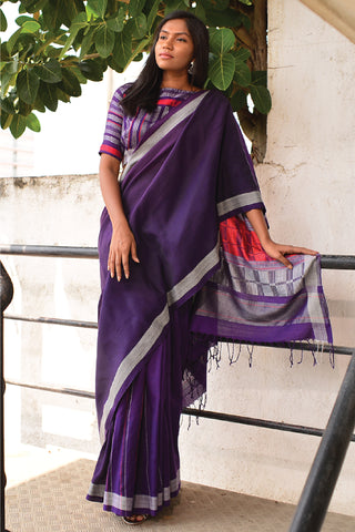 Urban Drape Purple Storms Saree