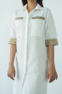 MENDES CEYLON - March Linen Shirt Dress White