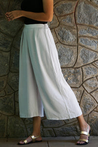 Natural Dyed Wide Leg Pant