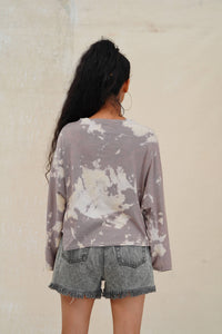 MACHAN TIE DYE LONG SLEEVE OVERSIZED T-SHIRT