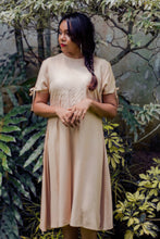 Load image into Gallery viewer, Natural Dyed Peachy Midi Dress