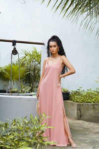 DUSTY PINK SLIP DRESS