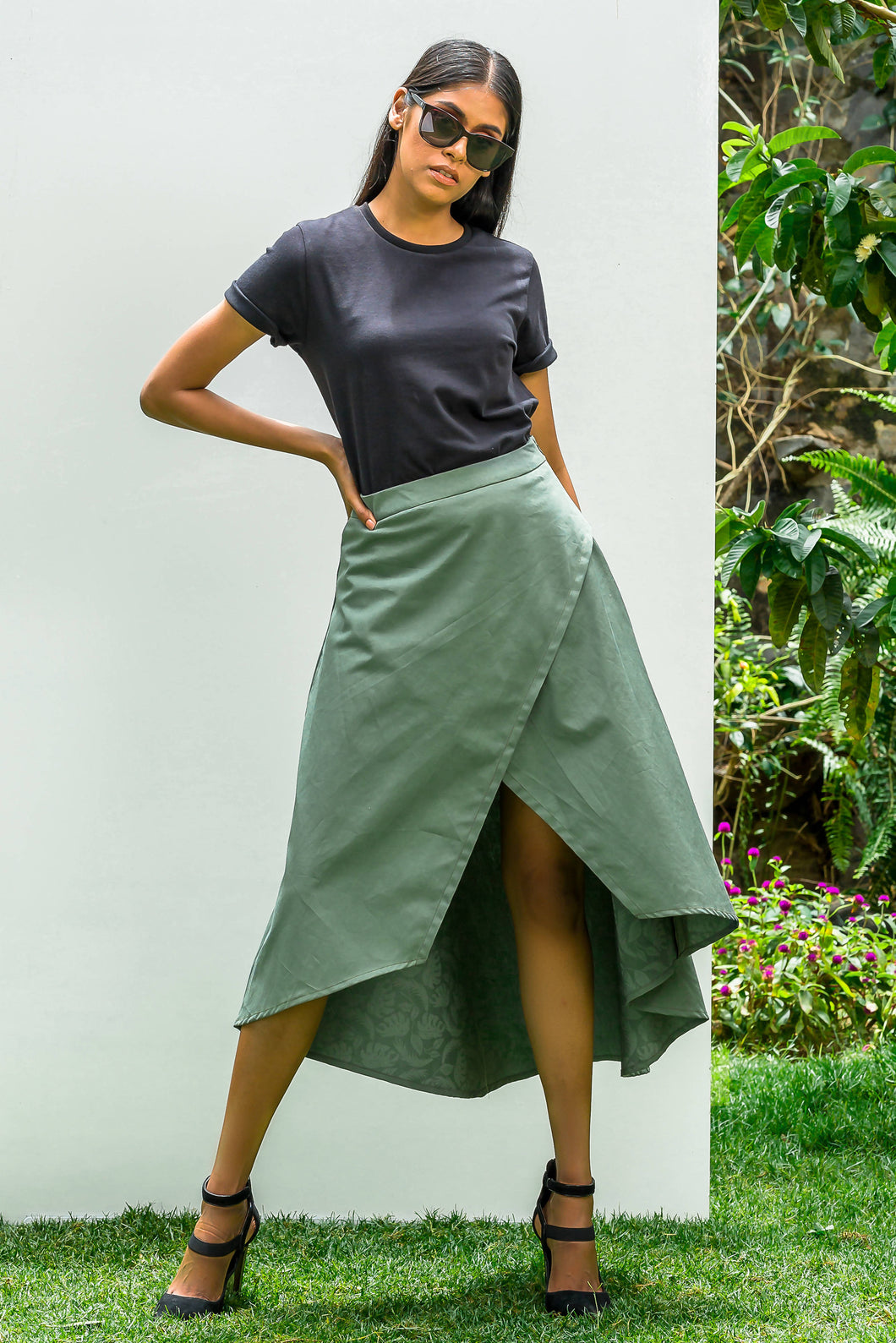 Khaki Chipper Skirt