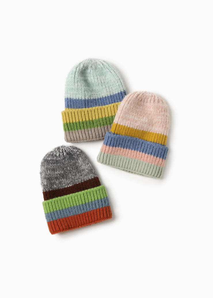 Cotton Candy Striped Beanie