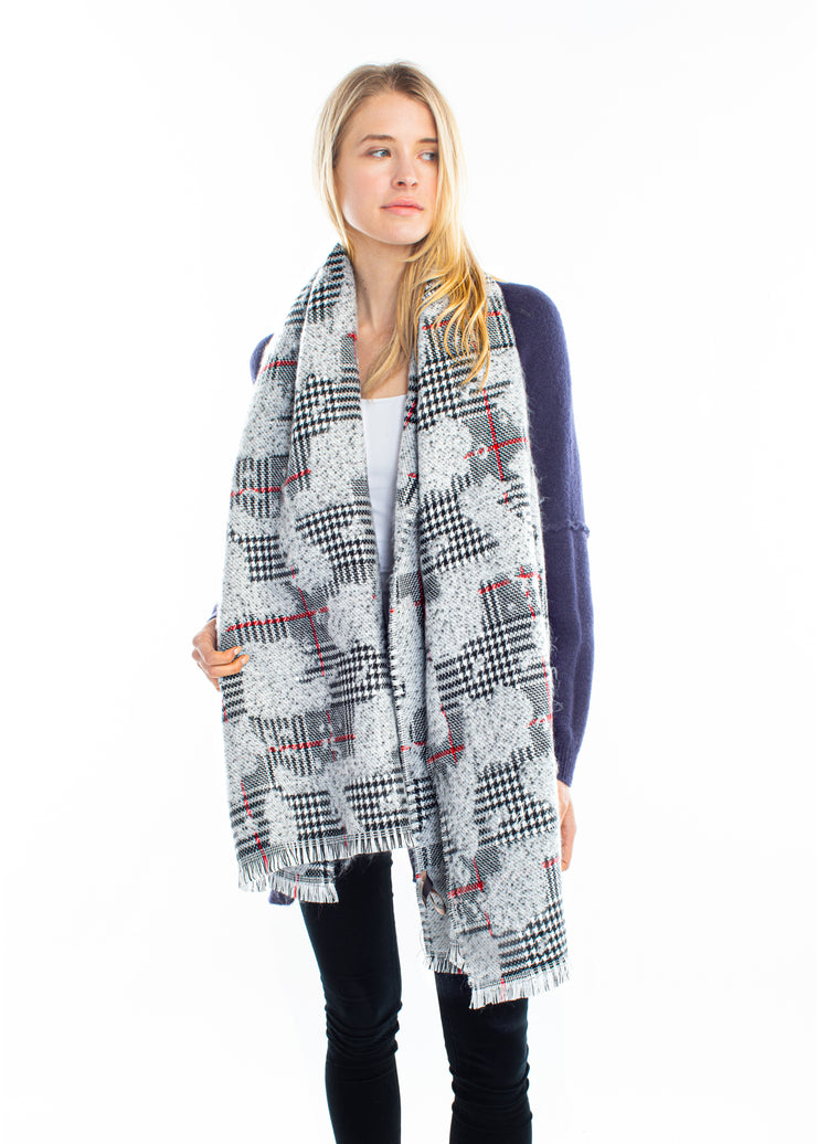 Point Boucle Houndstooth Scarf