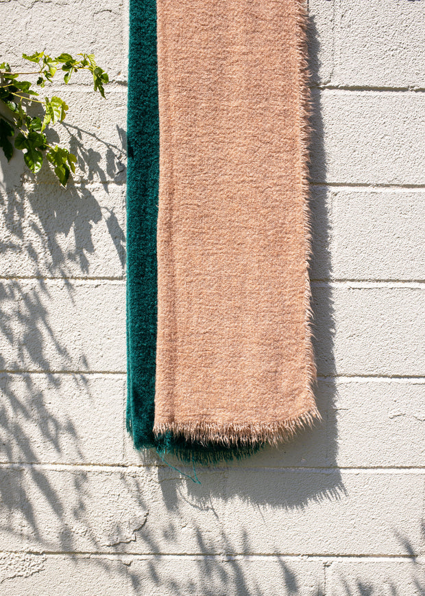 Vintage Raw Rough Fringe Scarf