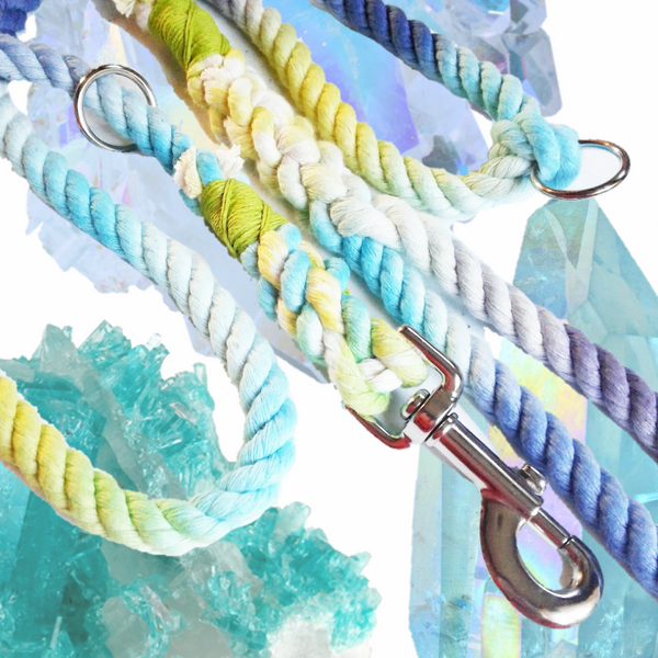 "5' Organic Cotton Leash in ""Fluid"""
