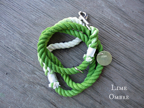 Lime Ombre Rope Leash