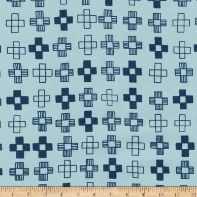 End of Bolt: 3.5 yards of Kaufman Blueberry Park Crosses Fog Woven