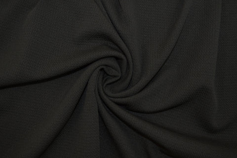 End of BOlt: 2.5 yards of Paola Textured Black Bullet Liverpool Knit