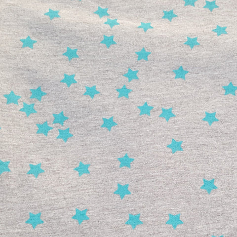 Baby Blue Stars Modal Cotton Spandex Knit