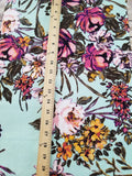 End of BOlt: 3 yards of Liverpool Wildflowers Mint Floral Knit
