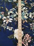 End of Bolt: 3 yards of  Liverpool Wildlfowers Navy Floral Knit