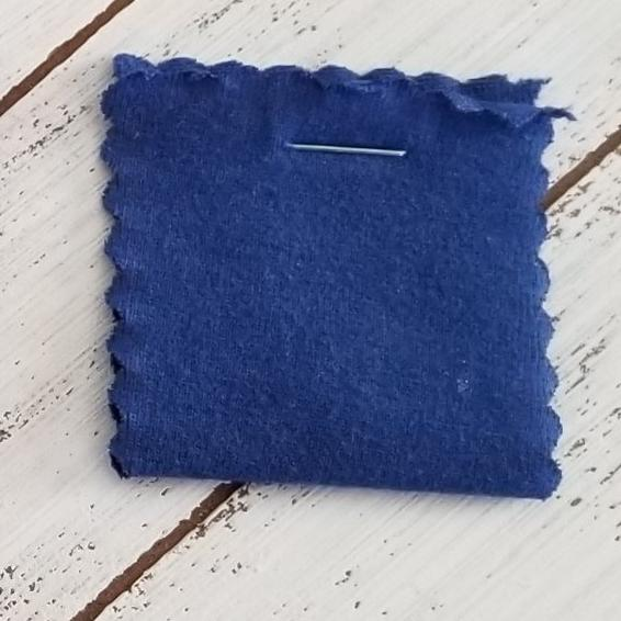 End of Bolt : 2.5 yards of Cotton Spandex Royal Blue 14 oz Solid Knit