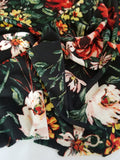 Liverpool Wildflowers Black Floral Knit